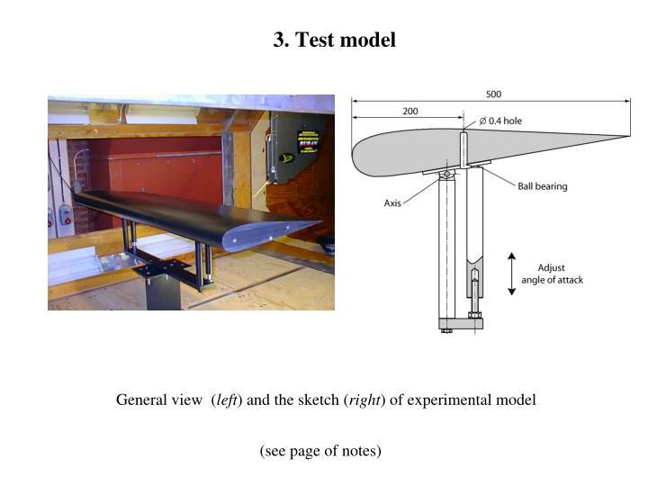 3. Test model
