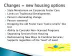 changes new housing options
