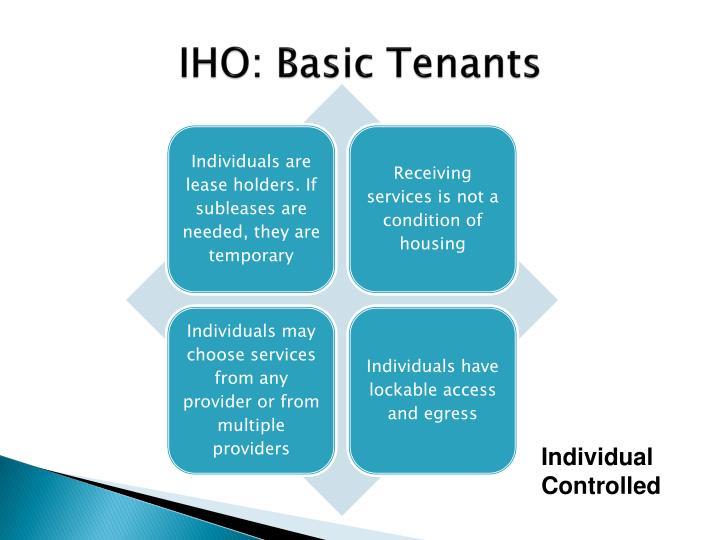 IHO: Basic Tenants