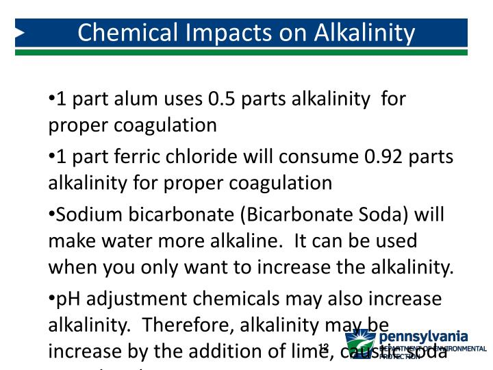 Chemical Impacts on Alkalinity