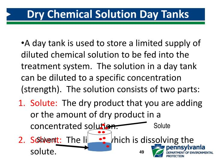Dry Chemical Solution Day Tanks