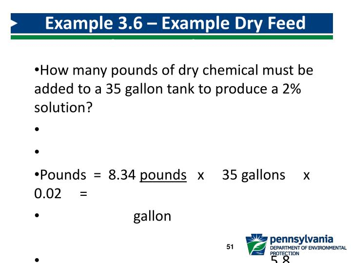 Example 3.6 – Example Dry Feed Solution Tank Mixing