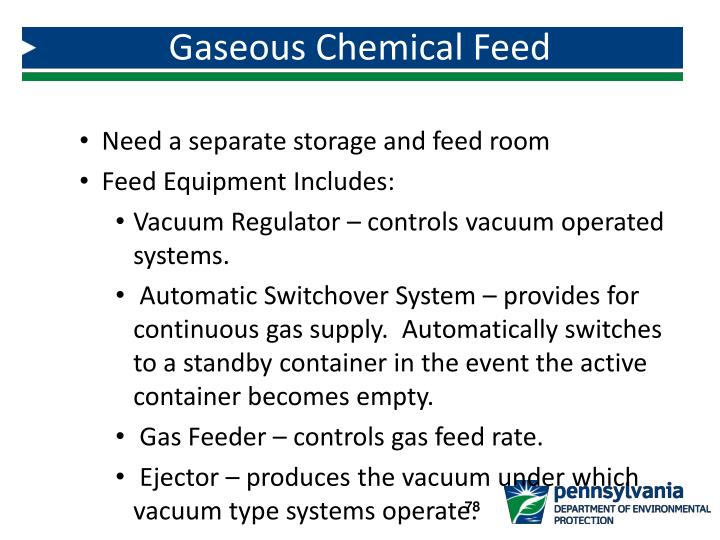 Gaseous Chemical Feed