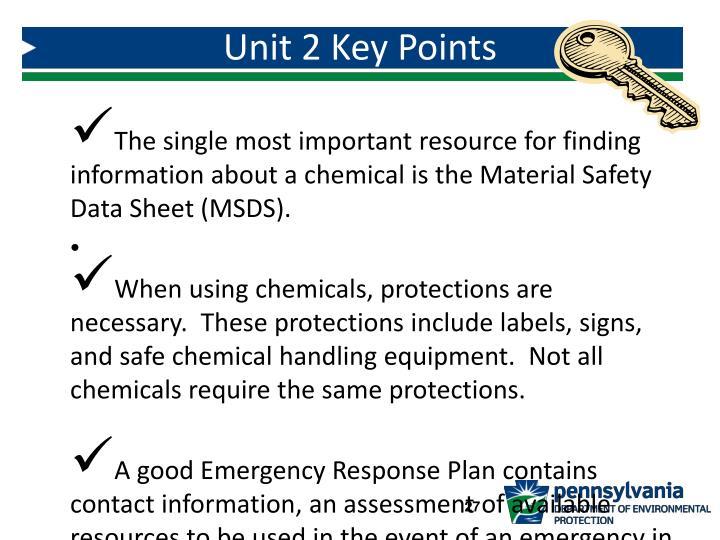 Unit 2 Key Points