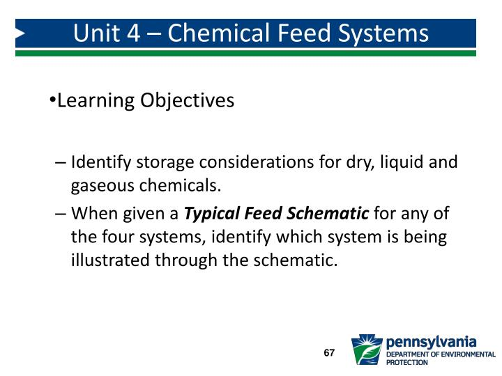 Unit 4 – Chemical Feed Systems