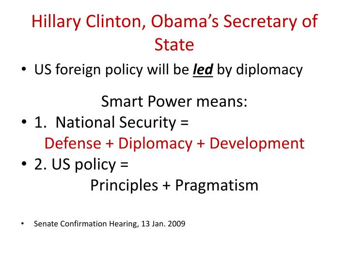 Hillary Clinton, Obama's Secretary of State