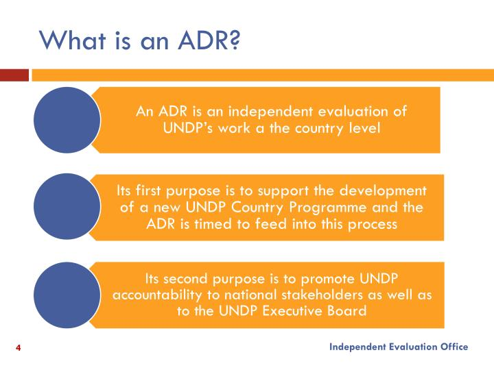 What is an ADR?
