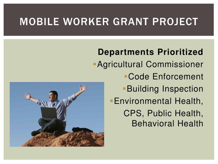 Mobile Worker Grant Project