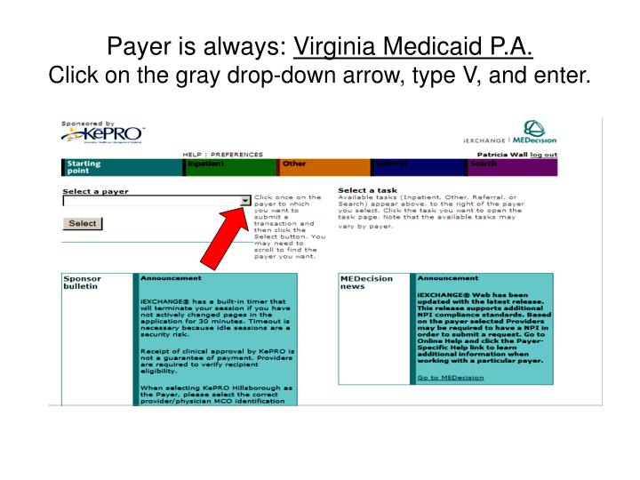 Payer is always: