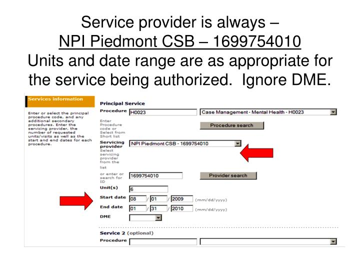 Service provider is always –