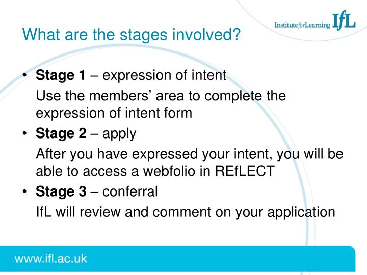 What are the stages involved?