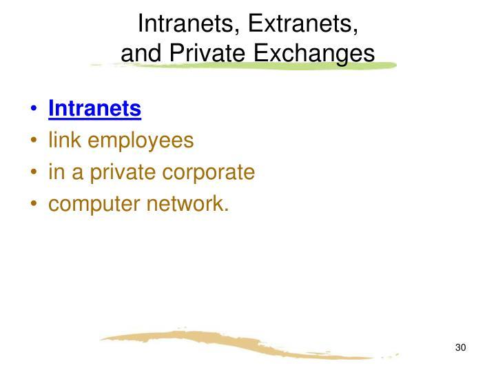 Intranets, Extranets,