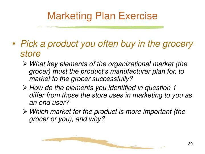 Marketing Plan Exercise