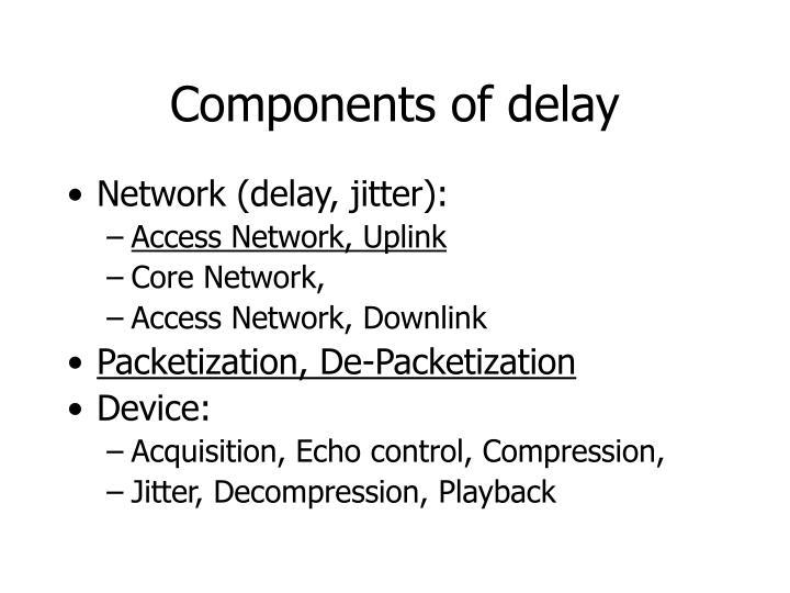 Components of delay