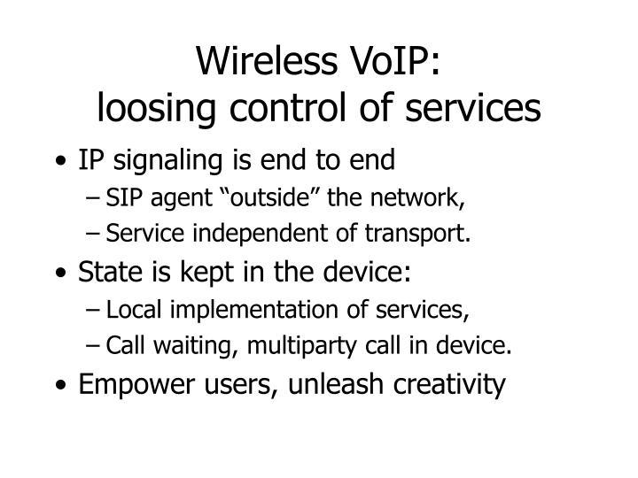 Wireless VoIP: