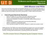 te mission and program educational objectives