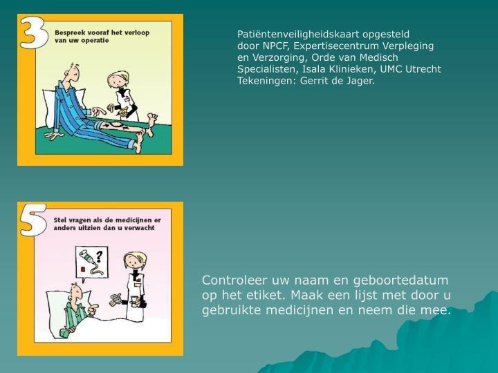 Patiëntenveiligheidskaart opgesteld