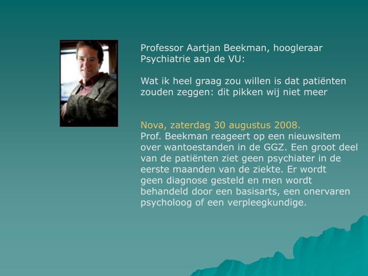 Professor Aartjan Beekman, hoogleraar