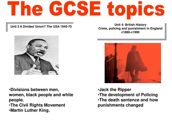 The GCSE topics