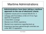 maritime administrations