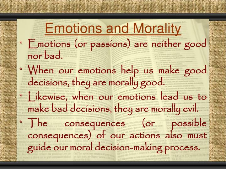 Emotions and Morality