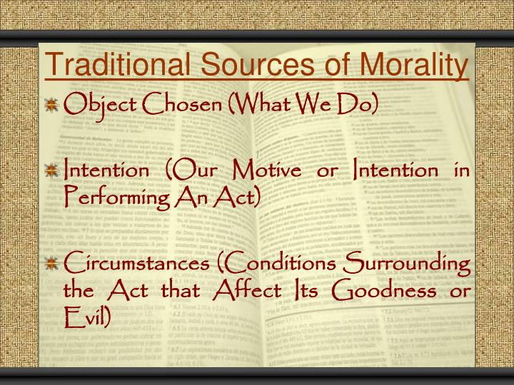 Traditional Sources of Morality