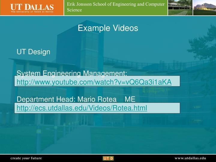 Example Videos