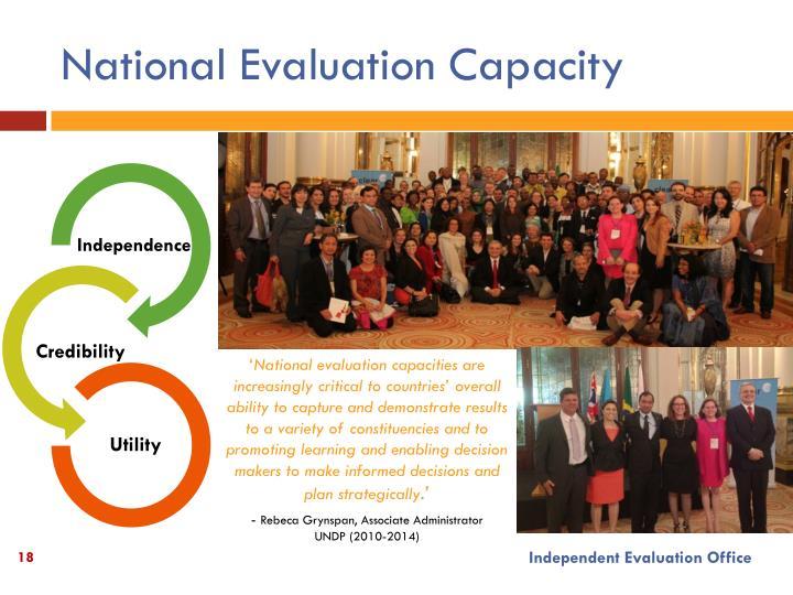 National Evaluation Capacity