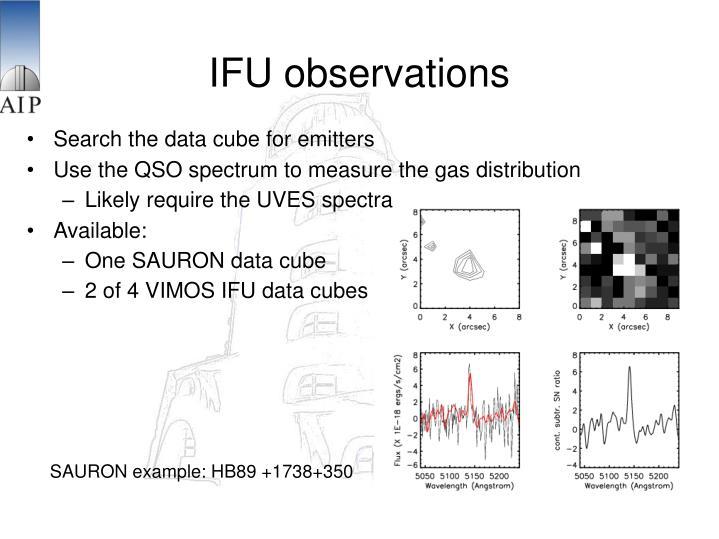 IFU observations