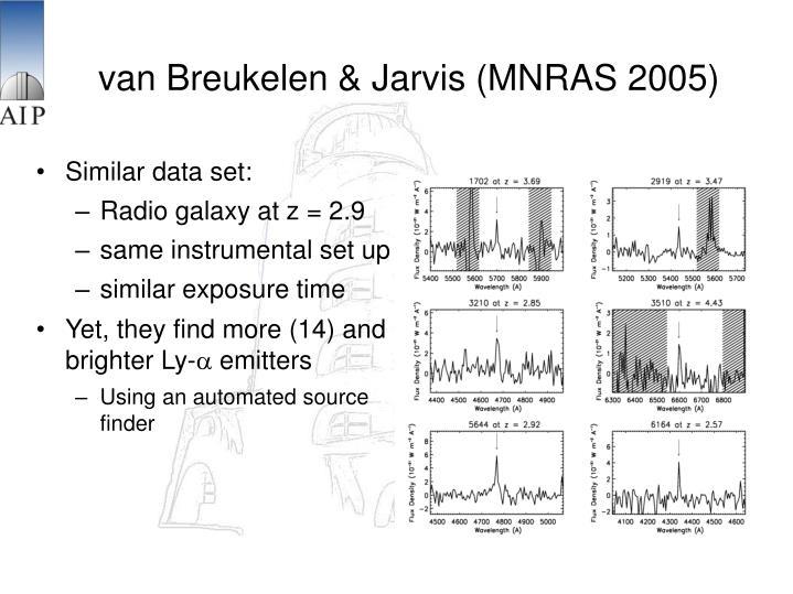 van Breukelen & Jarvis (MNRAS 2005)