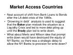 market access countries