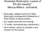 sovereign bankruptcy a piece of ifa still missing marcus miller s comments