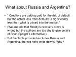 what about russia and argentina