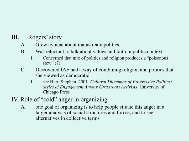 Rogers' story
