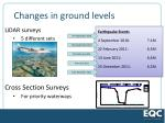 changes in ground levels