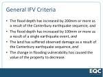 general ifv criteria