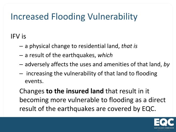 Increased Flooding Vulnerability