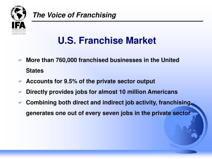 More than 760,000 franchised businesses in the United States