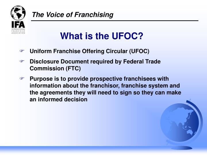 What is the UFOC?