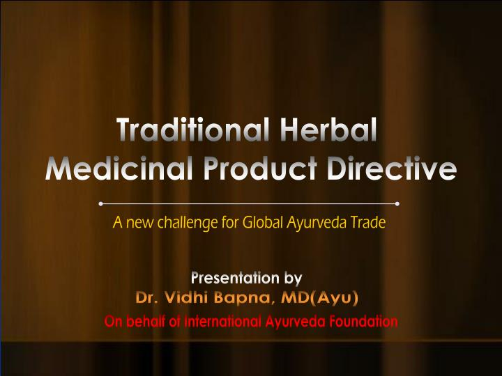 Traditional Herbal