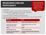 measuring english proficiency