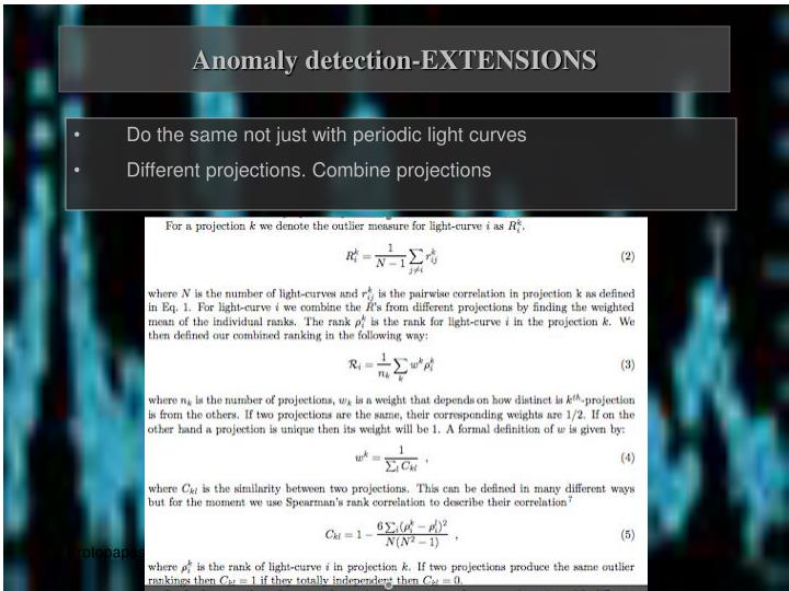 Anomaly detection-EXTENSIONS