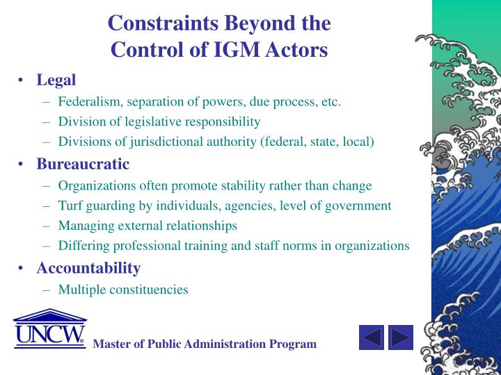 Constraints Beyond the