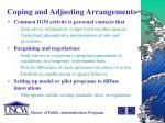 coping and adjusting arrangements