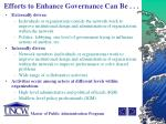 efforts to enhance governance can be