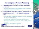 interorganizational planning