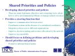 shared priorities and policies