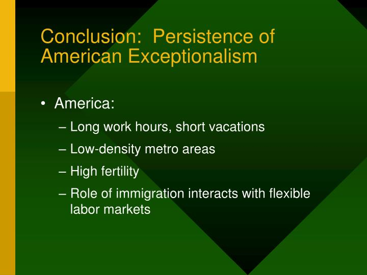 Conclusion:  Persistence of American Exceptionalism