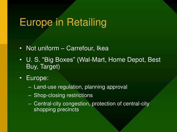 Europe in Retailing
