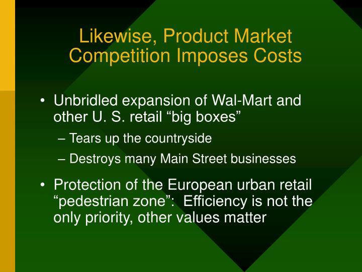 Likewise, Product Market